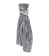 Maticevski Anniversary Stripe Printed Midi Dress ~ striped asymmetric dresses