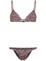 MATTEAU Petite Triangle leopard print bikini ~ animal print bikinis