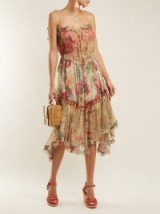 ZIMMERMANN Melody Floating floral-print silk dress ~ strappy frill trimmed dresses
