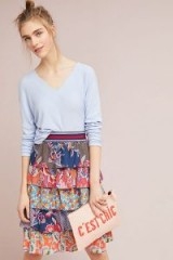 Maeve Mendes Tiered Skirt | multicoloured floral skirts