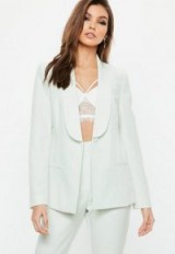 Missguided mint green skinny tux blazer – tailored style jackets