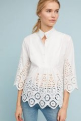 Monarc Moira Cutout Blouse | white gathered cut out blouses