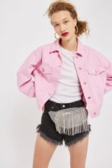 Topshop Monochrome Check Diamante Bumbag | fringed bum bags | embellished fanny packs