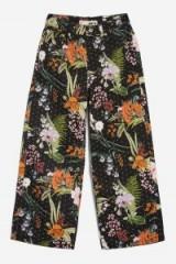 MOTO Tropical Diamante Cropped Jeans / floral embellished denim