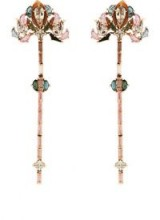 NAK ARMSTRONG Lotus Drop Earrings ~ floral multicoloured gemstone statement jewellery