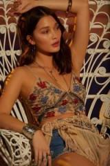 Nasty Gal Studio Christine Beaded Bra Top | floral sequin bralets | festival crop tops