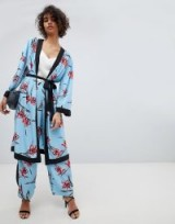 Neon Rose Kimono In Floral Co-Ord | oriental inspired fashion