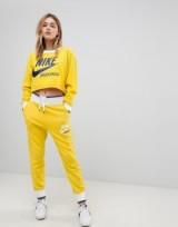 Nike Exclusive To ASOS Archive Reversible Sweatshirt & Sweat Pants In Yellow