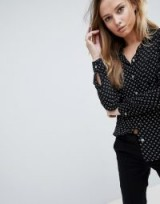 Oasis Heart Printed Shirt ~ black printed shirts ~ hearts