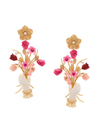 OF RARE ORIGIN Capitol xx Collection bouquet earrings / floral drop earrings / flower statement jewellery