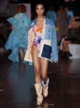 NATASHA ZINKO Oversized patchwork denim jacket ~ frayed jackets