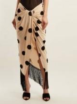 JACQUEMUS Pareo polka-dot sarong skirt ~ beige and black sarongs