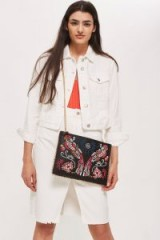 Topshop Parrot Embroidered Cross Body Bag | beaded bags