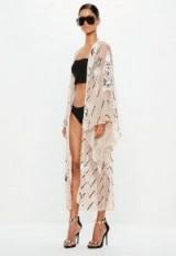 peace + love nude embellished kimono jacket – sheer kimonos