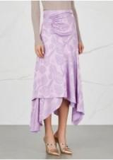 PETER PILOTTO Lilac handkerchief jacquard skirt ~ asymmetric skirts