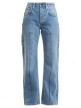 RAEY Pin pintuck straight-leg jean ~ seamed denim