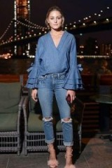Olivia Palermo double denim outfit