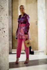 Pink and plastic ~ street style Paris Fashion Week Fall 2018