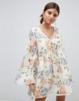 PrettyLittleThing Floral Smock Dress – feminine boho dresses