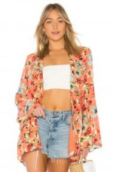 Privacy Please BLISS ROBE Gina Floral | short kimonos