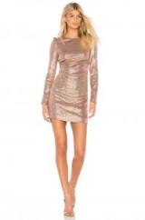RACHEL ZOE JULIETTE DRESS in Bellini / sequin covered ruched mini dresses