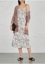 RAG & BONE Astrid printed bias-cut dress ~ floral slip dresses