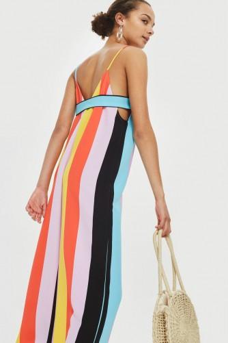 Topshop Rainbow Slouch Jumpsuit Multicoloured Stripes