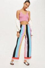 Topshop Rainbow Slouch Trousers | multi-coloured striped pants