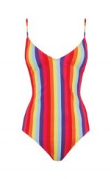 WAREHOUSE RAINBOW STRIPE SWIMSUIT ~ multicoloured swimwear