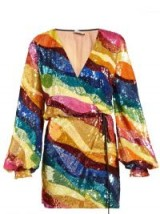 ATTICO Rainbow-striped sequin dress ~ multicoloured sequins ~ glamour