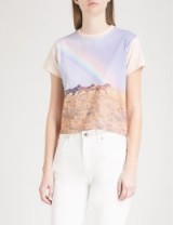 RE/DONE Horse and rainbow-print cotton-jersey T-shirt ~ printed tees