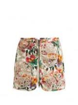 ISABEL MARANT Rilzen Hawaiian-print cotton mini skirt ~ embroidered floral skirts
