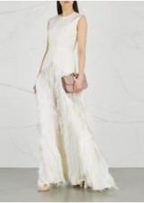 ROKSANDA Chandra ivory fringed fil coupé gown ~ beautiful statement gowns