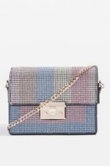 TOPSHOP Rosie Diamante Rainbow Crossbody Bag ~ embellished bags