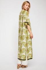 Lenni Roxi Deco Floral Print Kimono | lime-green lightweight printed kimonos
