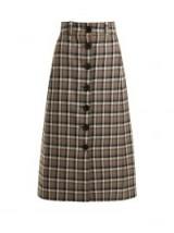 KWAIDAN EDITIONS Ruscha checked wool skirt / check print A-line midi skirts
