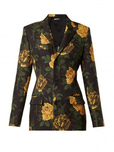 KWAIDAN EDITIONS Ruscha floral-print single-breasted jacket / tailored trouser suit jackets - flipped
