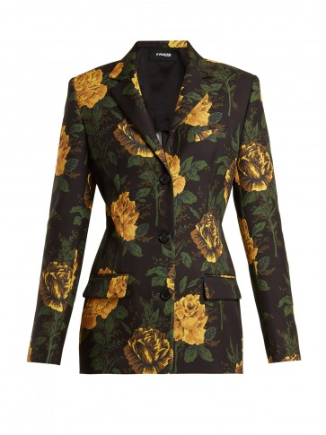 KWAIDAN EDITIONS Ruscha floral-print single-breasted jacket / tailored trouser suit jackets