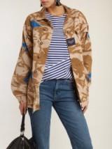 MYAR 1990s camouflage-print jacket / camo utility jackets