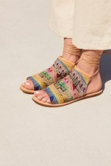 Latigo Sand Dunes Boot Sandal Frabric | strappy multicoloured flats