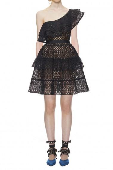 $299.00 Self Portrait Floral Chain Mini Dress