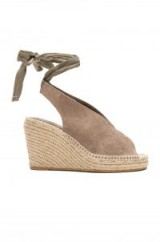 Seychelles INTERRELATED WEDGE in TAUPE SUEDE | ankle wrap wedges