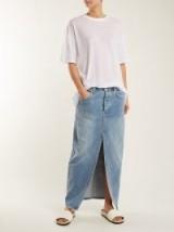 RAEY Slit-front denim maxi pencil skirt ~ long split skirts