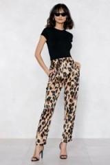 NASTY GAL So Fierce Leopard Pants   animal print trousers
