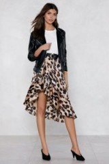 NASTY GAL So Fierce Leopard Skirt | animal prints | frill trimmed asymmetric skirts