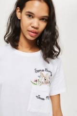 TOPSHOP 'Some Bunny Loves Me' Jersey Set / cute slogan tee and shorts