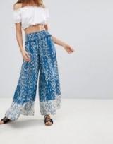Surf Gypsy Tie Dye Palazzo Beach Trouser   wide leg boho pants