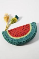 Anton Heunis Tasselled Watermelon Clutch | tasseled beaded handbags