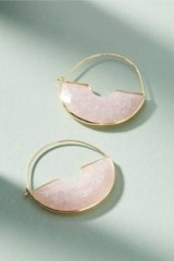 ANTHROPOLOGIE Temperance Hoop Earrings in rose | pale pink hoops
