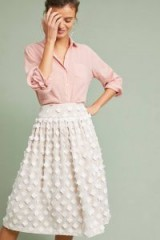 Eliza J Textured Tulle Skirt ~ floral applique vintage style skirts